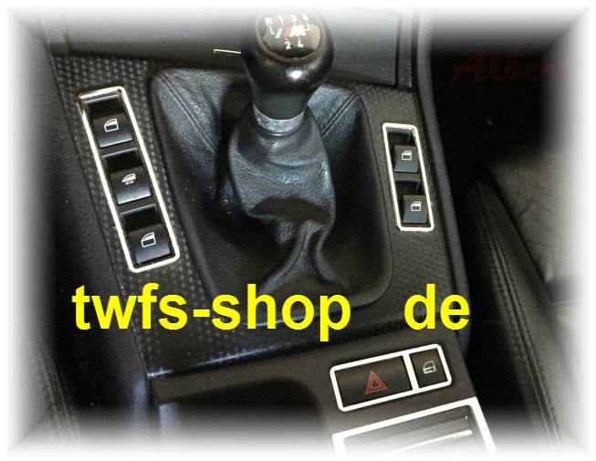 Edelstahl poliert D Mercedes SLK R171 Chrom Rahmen für Lichtschalter